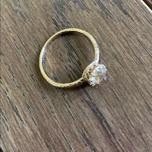 Size 4 rose gold ring with champagne stone